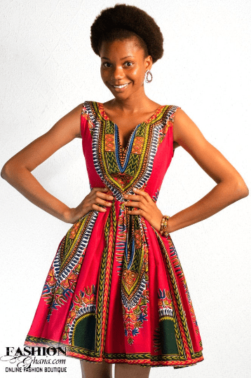 Angelina Print / Dashiki Skater Dress (Various Colors)