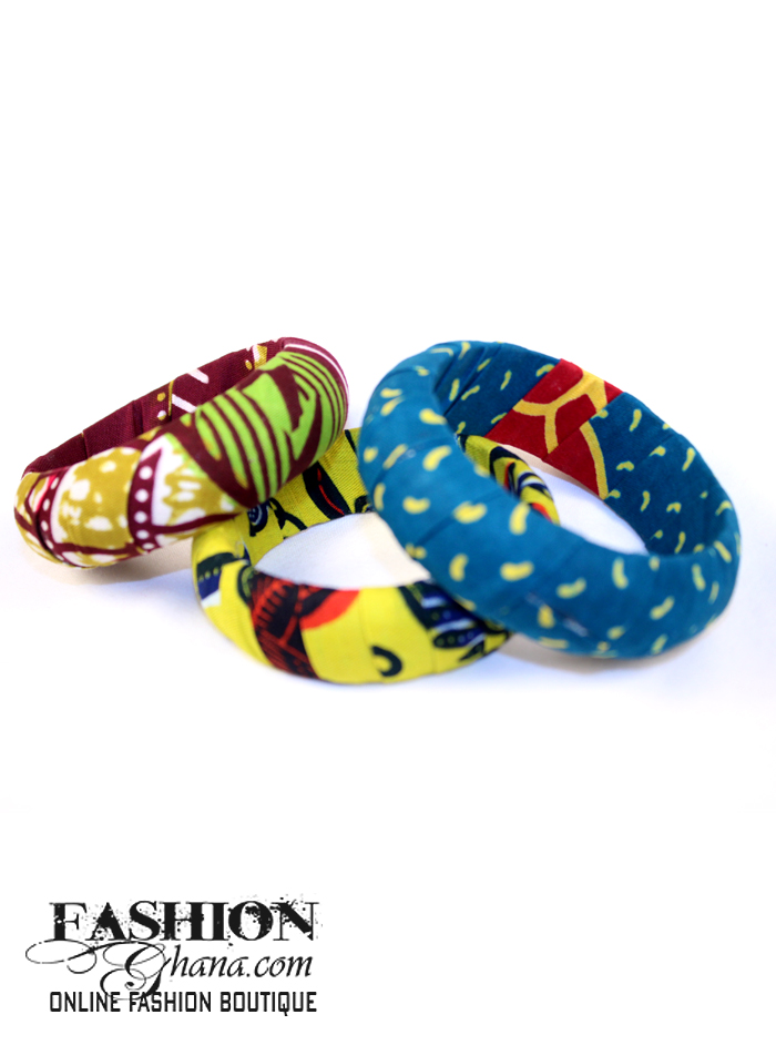 African Print Wrapped Bangles