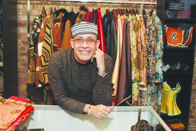 Nigerien fashion designer Alphadi calls for development of textile industry and fashion in Africa. (Courtesy of Afrikan Spot)