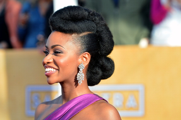 LOS ANGELES, CA - JANUARY 27:  Actress Teyonah Parris arrives at the 19th Annual Screen Actors Guild Awards held at The Shrine Auditorium on January 27, 2013 in Los Angeles, California.  (Photo by Frazer Harrison/Getty Images)