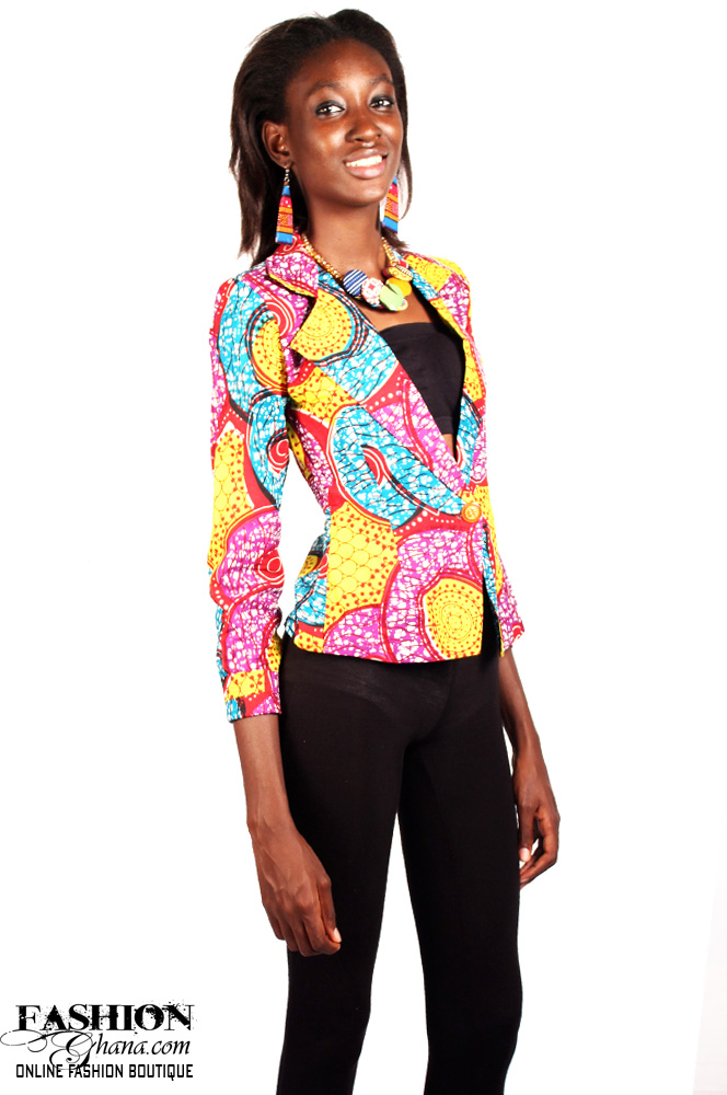 African Print Women's 3/4 Sleeve Blazer (Various Prints)