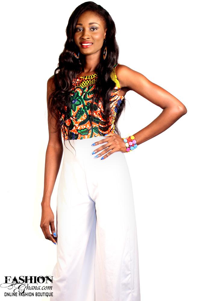 Wide-Cut Leg, African Print Jumpsuit