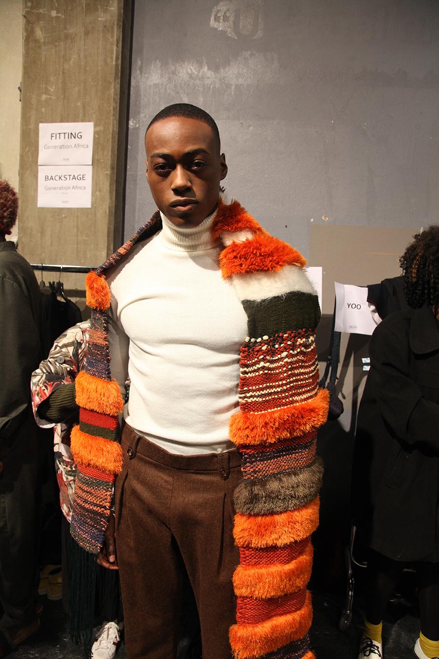 Lukhanyo Mdingi x Nicholas Coutts backstage at Generation Africa (c) Trevor Stuurman (21)
