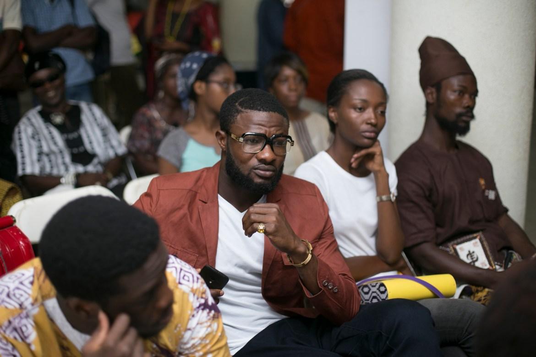 Audience (in shot) Nana Tamakloe of FashionGhana, Top Ghana Models; Prince and Julee