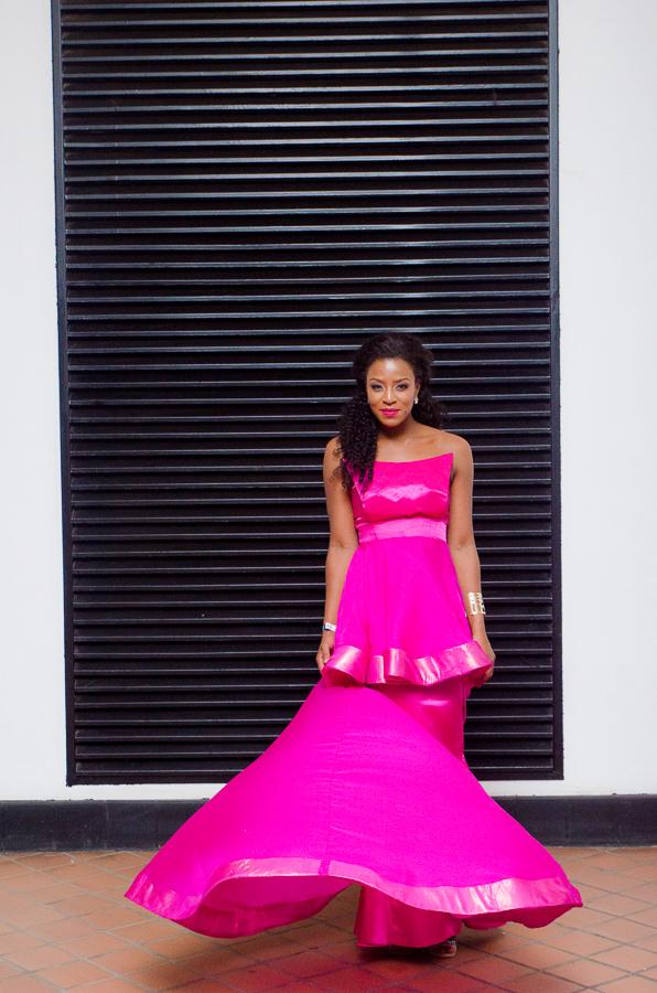 Jessica Nkosi in NN Vintage by Nhlanhla Nciza