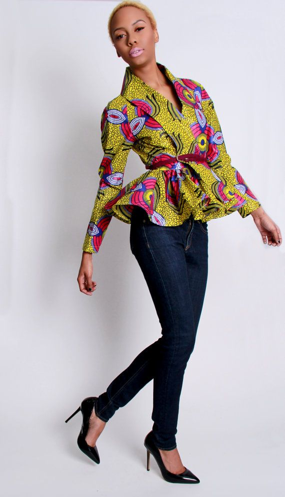 Peplum tops are amazing, they work with what ever follows below creating an overall styled piece look. Usually best if the bottoms are plain colors.