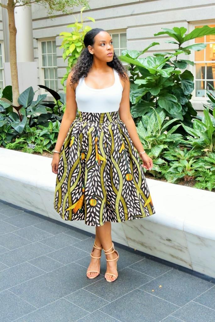 african print skater skirt (5)
