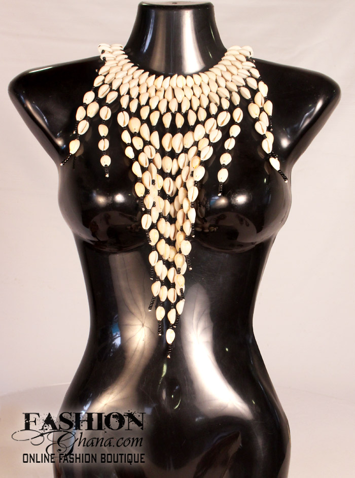 Cowry Shell Fringe Necklace