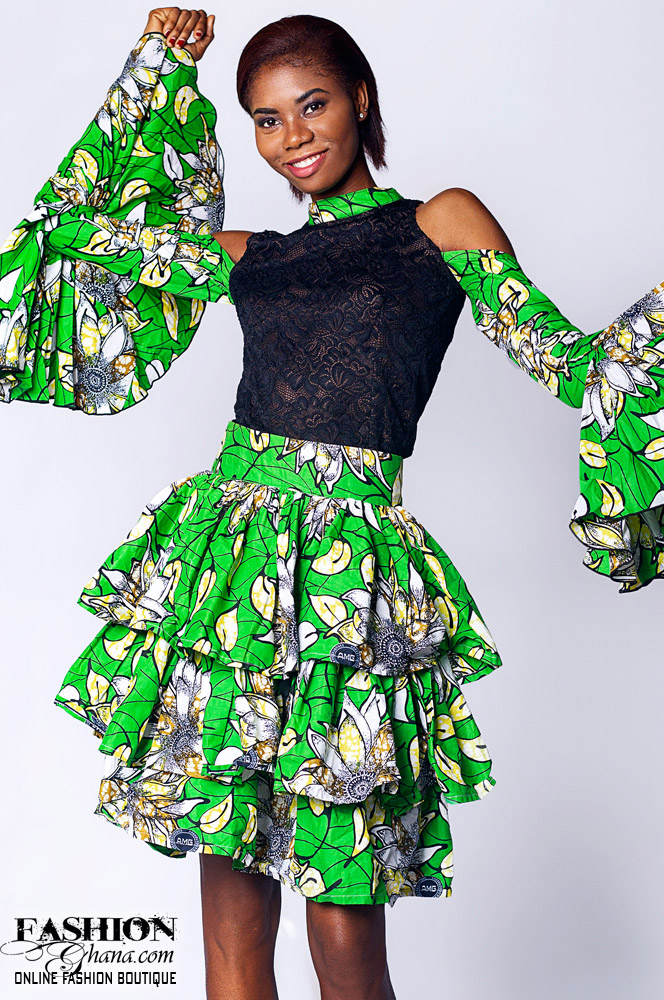 African Print Multi-Layered Skirt