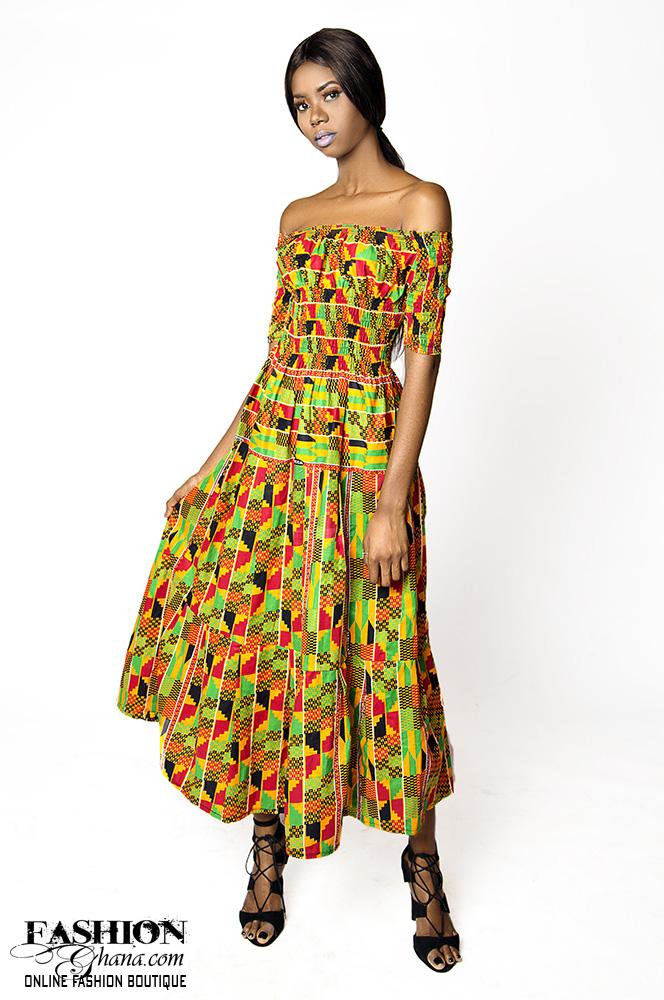 African Print Kente Maxi Dress