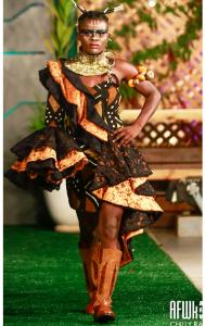 See Images Of When Akinko Lifestyle Clothing Unleashed Noella Wiyaala On Accra Fashion Week Runway