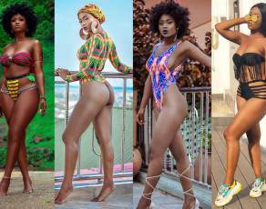 #BIKINIBAE: Meet Dezel The Ghanaian Photo Model Breaking The Internet With Hot Swimwear Shots