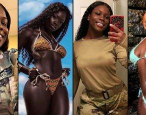 #BIKINIBAE: Meet The Stunning Guinean Part Time Model & USA Soldier, Cire