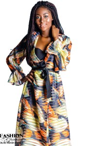 Mikoko Print Chiffon Midi Wrap Dress