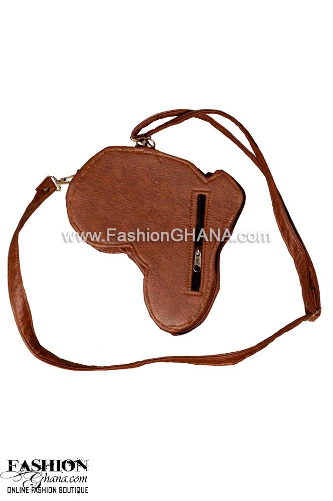 Mini Leather Cross-Body Africa Bag