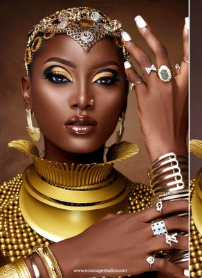 #HOTSHOTS: This Astonishing Beauty Shoot Is A Perfect Depiction Of Royal African Accessorizing & Style