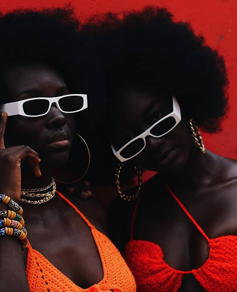 Black Women Dark Skinned Afro