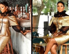 #STYLEGIRL: Award Winning Red Carpet Designer Lauren Haute Sets Our Fashion Taste Buds On Fire In This Metallic Gold Dress