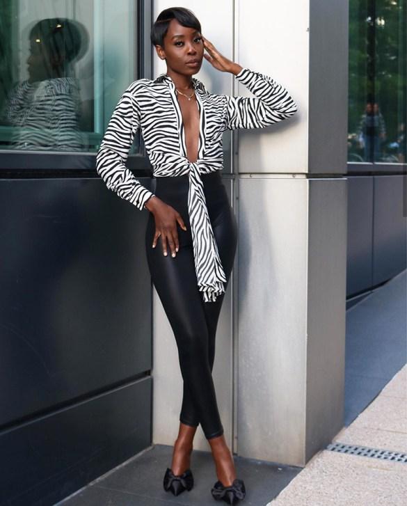 zebra animal print outfit