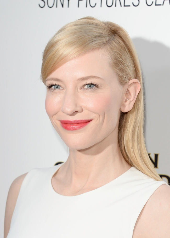 cate blanchett side part 12 Long Hairstyles That Inspire