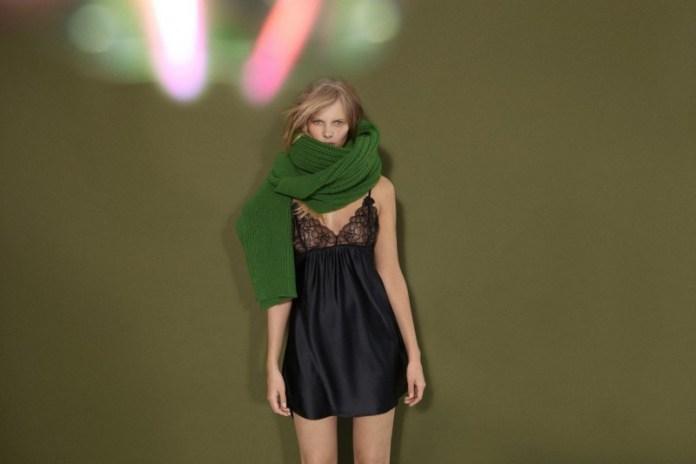 stella mccartney lingerie11 800x533 Marloes Horst Models Stella McCartney F/W 2013 Lingerie Collection