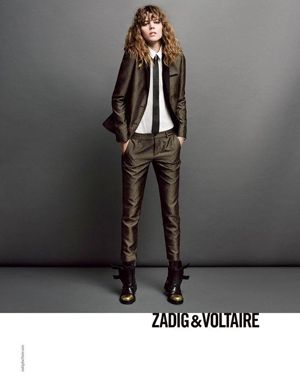 zadig voltaire fw ads2 Freja Beha Erichsen Stars in Zadig & Voltaire Fall 2013 Ads