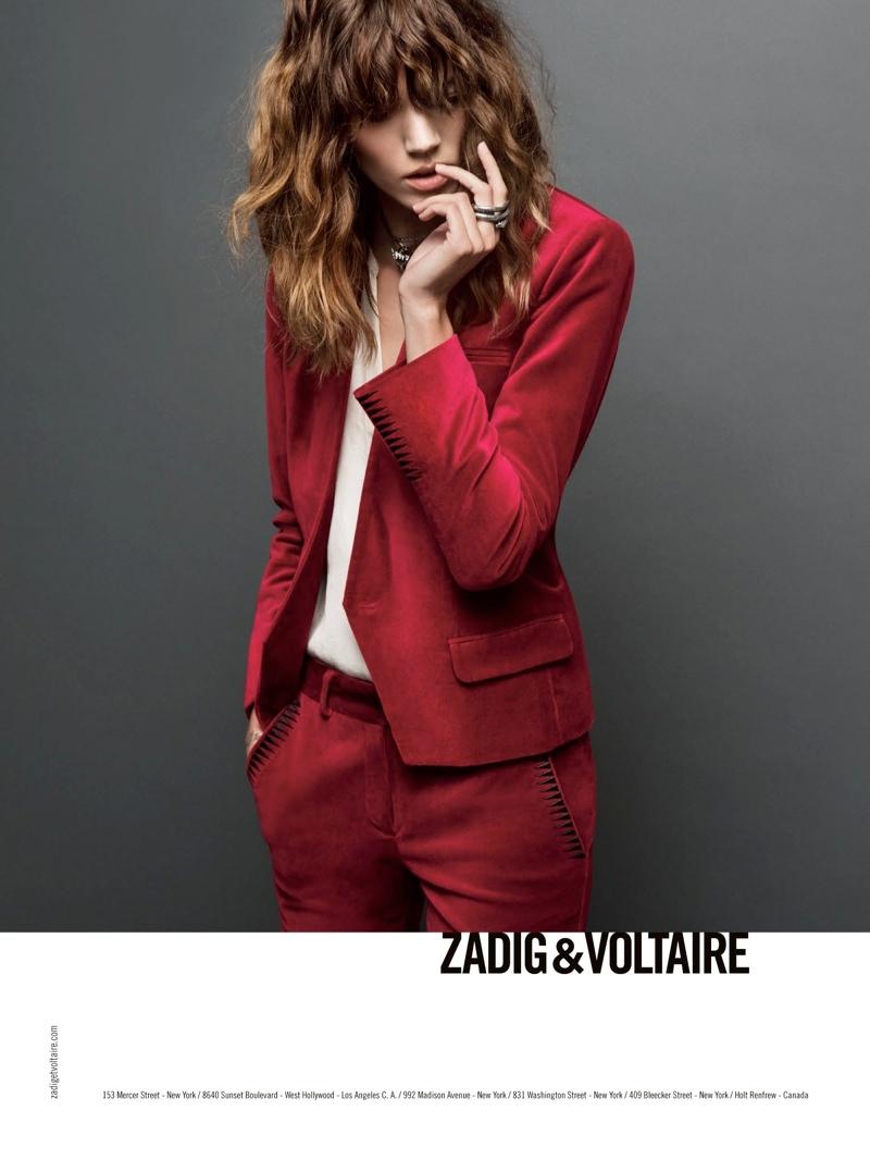 Freja Beha Erichsen za Zadig & Voltaire jesensku kampanju
