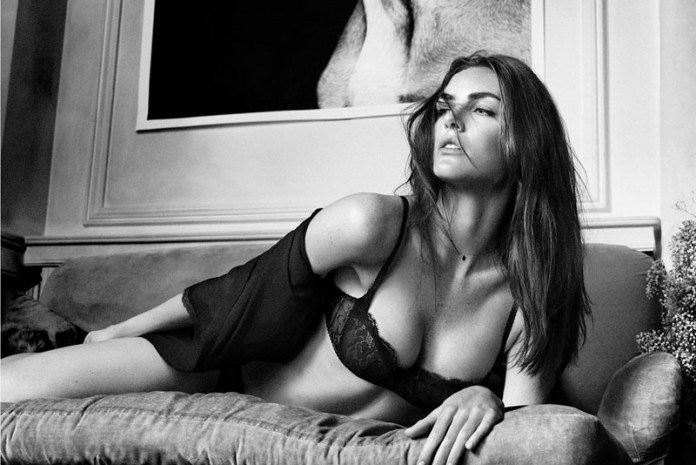 oysho lingerie hilary rhoda2 Hilary Rhoda Seduces for Oyshos Fall 2013 Lingerie Ads