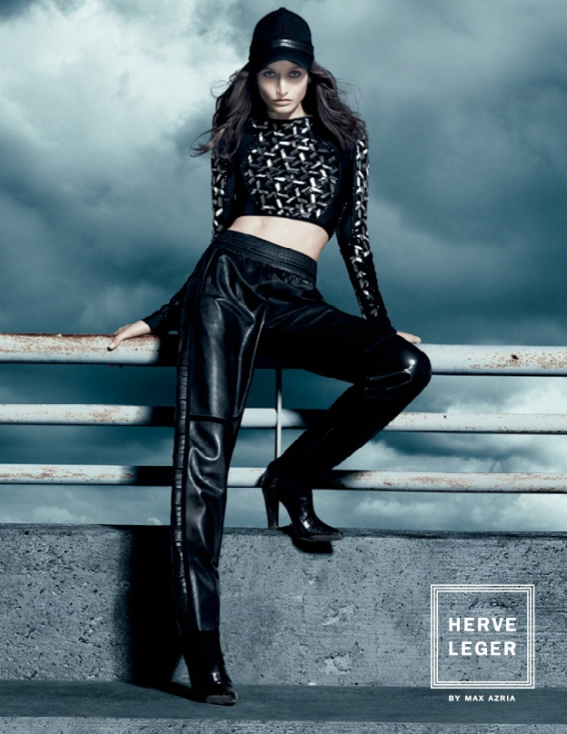 herve leger fall7 Suzanne Diaz Stars in Herve Leger by Max Azrias Fall 2013 Campaign