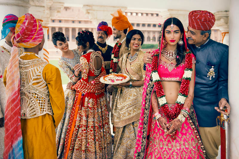 india vogue editorial indian high fashion wedding mother father bride party makeup