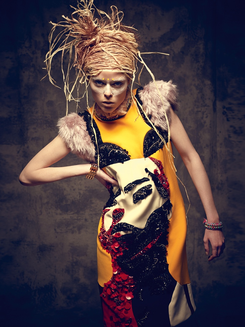 coco rocha bazaar mexico photos14 Coco Rocha Gets Wild for Harper's Bazaar Mexico Cover Shoot