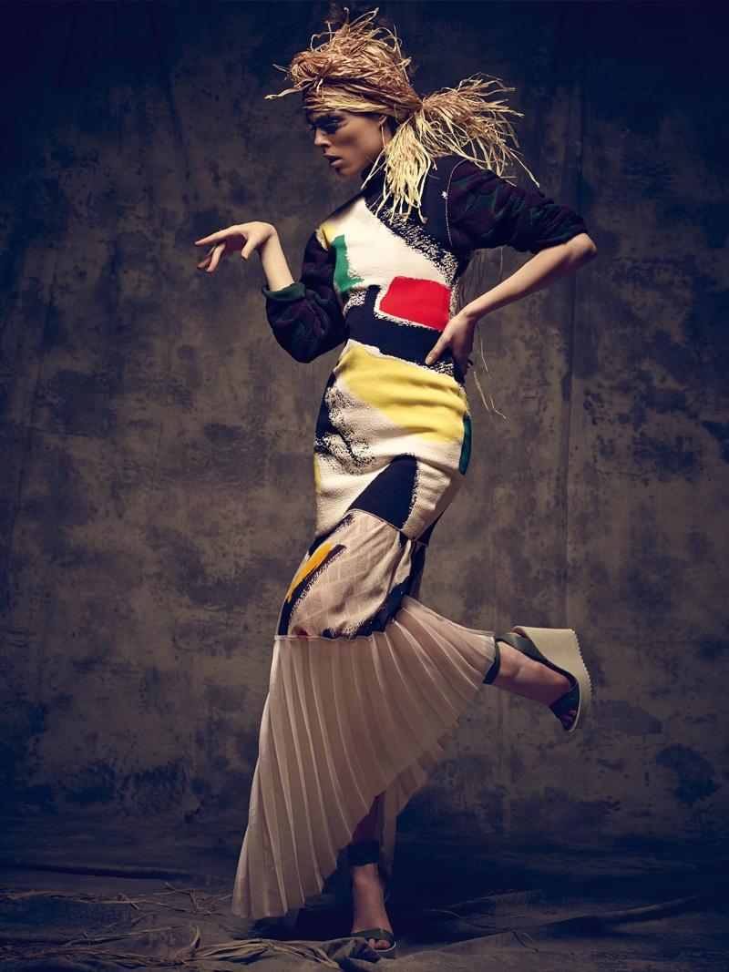 coco rocha bazaar mexico photos5 Coco Rocha Gets Wild for Harper's Bazaar Mexico Cover Shoot