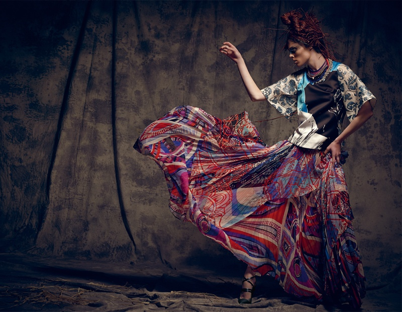 coco rocha bazaar mexico photos9 Coco Rocha Gets Wild for Harper's Bazaar Mexico Cover Shoot