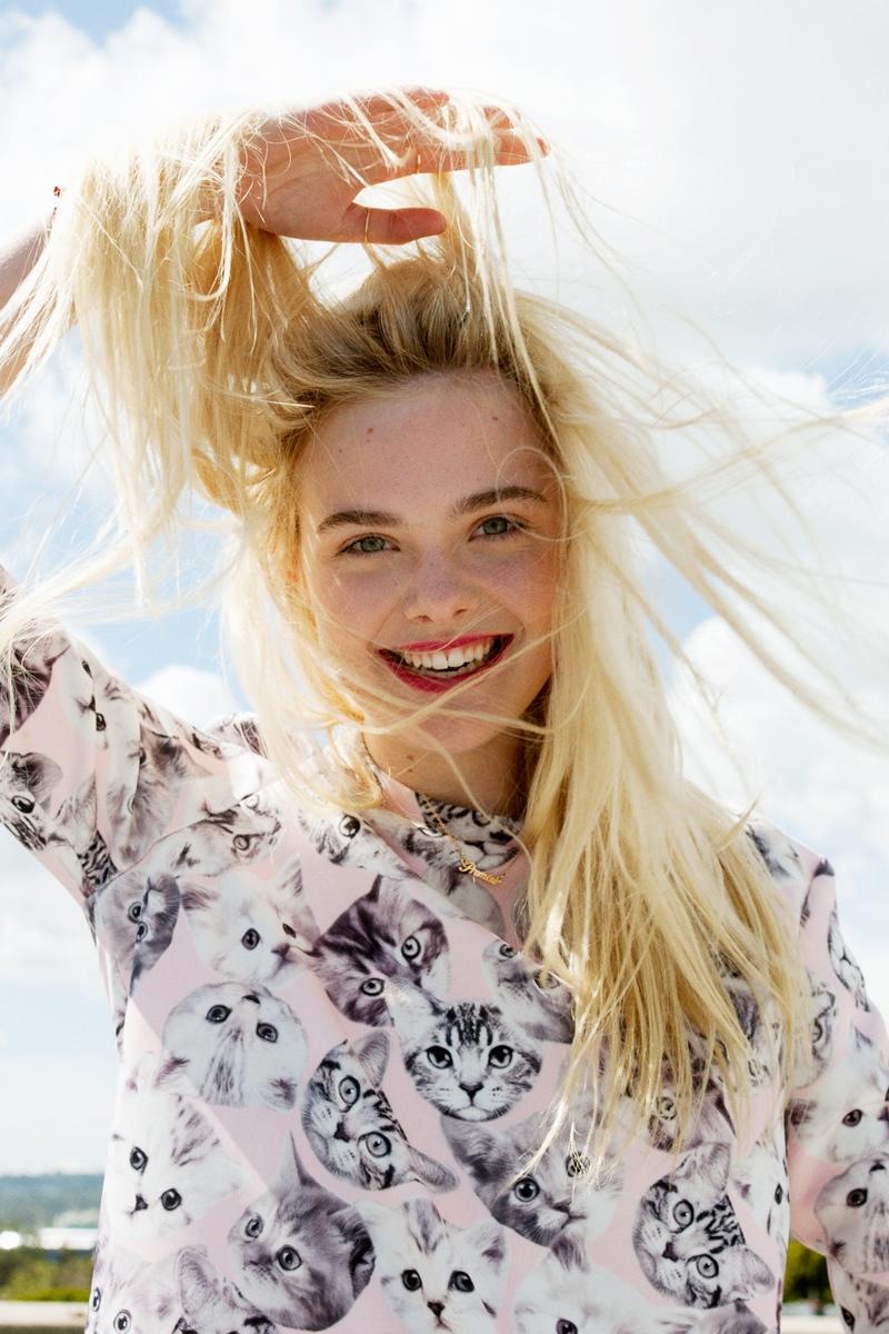elle fanning asos magazine photos6 Elle Fanning Stars in ASOS Magazine, Talks Knowing Karl Lagerfeld