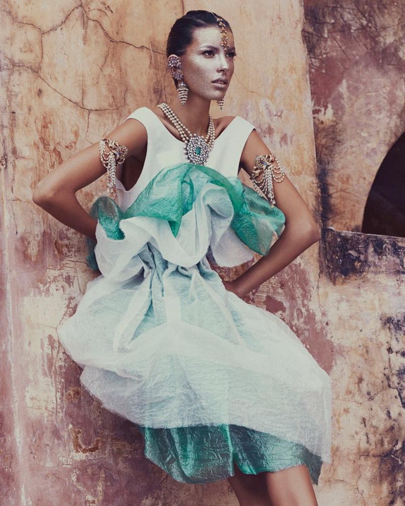 kate kung foto shoot2 Kate Kung modeller Sari stil för hur man spendera den av Andrew Yee