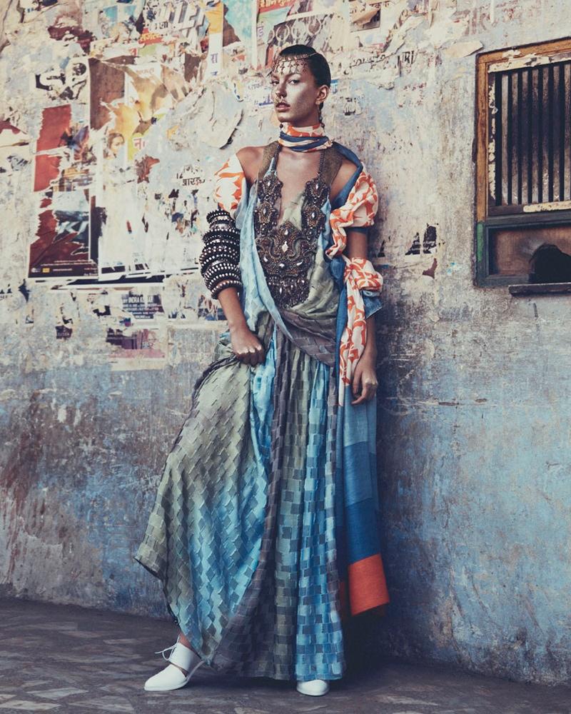 kate kung foto shoot4 Kate Kung modeller Sari stil för hur man spendera den av Andrew Yee