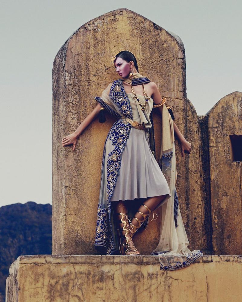 kate kung foto shoot8 Kate Kung modeller Sari stil för hur man spendera den av Andrew Yee
