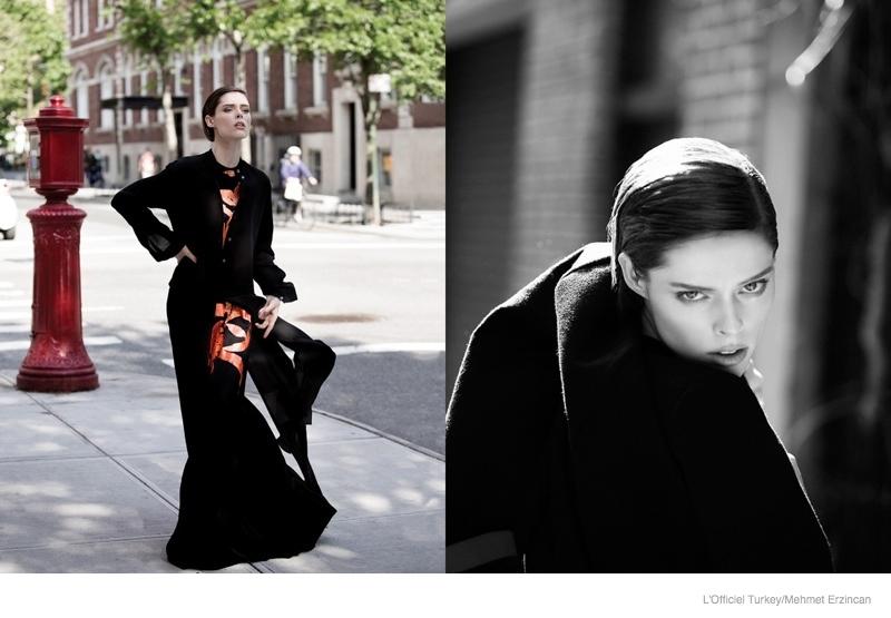coco rocha street style shoot03 Coco Rocha Wears Street Style for LOfficiel Turkey by Mehmet Erzincan