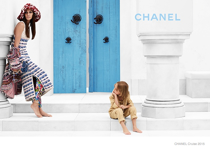 chanel cruise 2015 joan smalls07 Joan Smalls Lounges for Chanel Cruise 2015 Campaign by Karl Lagerfeld