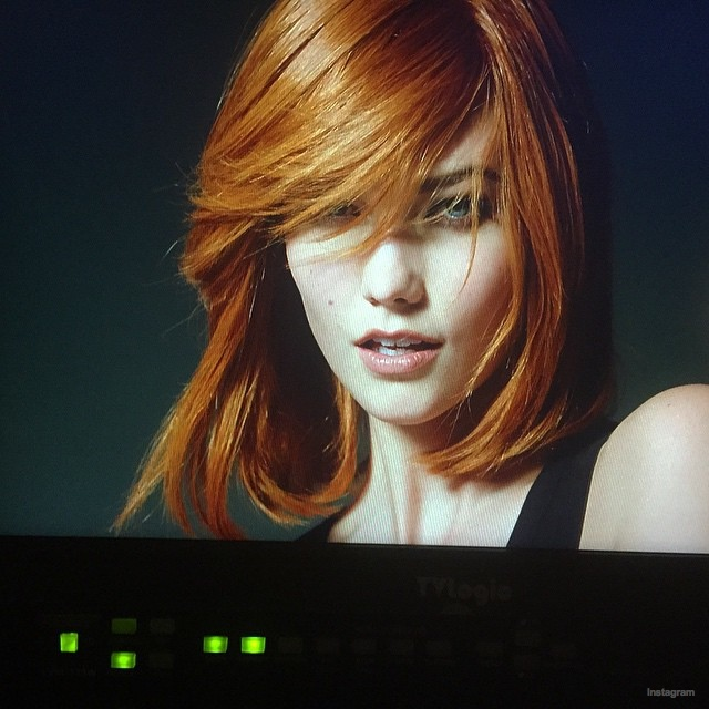 Karlie Kloss Barbara Palvin With Red Hair For LOreal