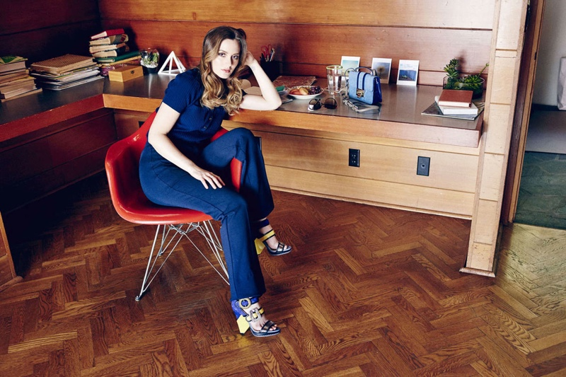 Leighton models the Kaya and Rebel shoe styles from Jimmy Choo
