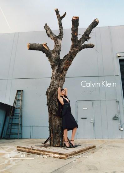 Aomi Muyock for Calvin Klein Fall/Winter 2016 Campaign