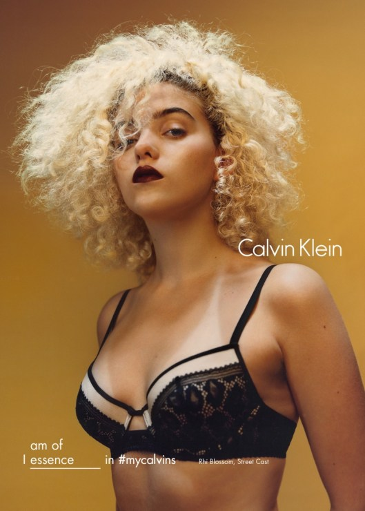Rhi Blossom for Calvin Klein Fall/Winter 2016 Campaign