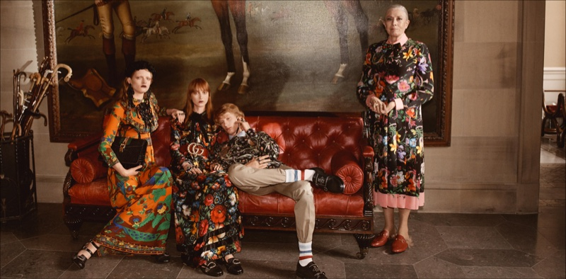 Gucci's cruise 2017 campaign was photographed at Chatsworth House in England