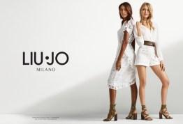 af42ec6373 Martha Hunt & Jasmine Tookes Team Up for Liu Jo's Spring 2017 ...