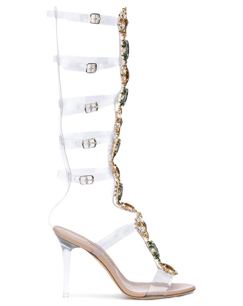 Manolo Blahnik x Rihanna Poison Ivy Gladiator Sandals $2,325