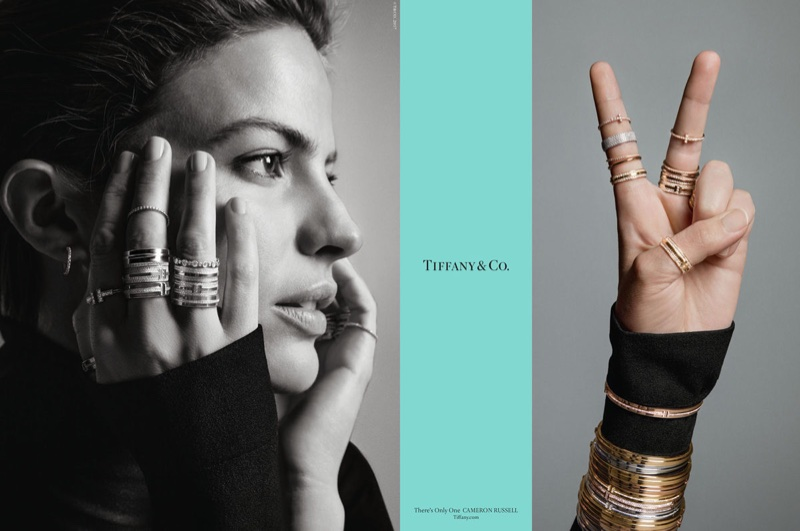 Cameron Russell stars in Tiffany & Co. fall-winter 2017 campaign