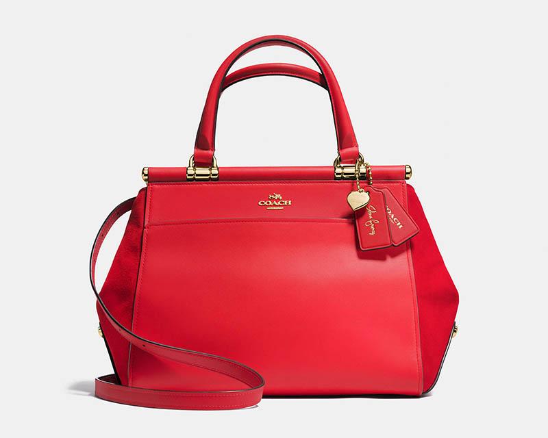 Coach x Selena Gomez Selena Grace Bag in Red $395