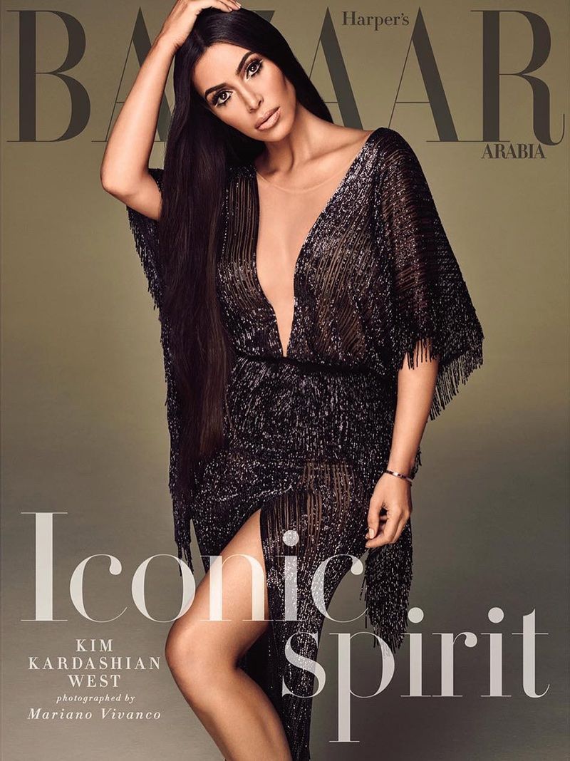 Kim Kardashian on Harper's Bazaar Arabia September 2017 Cover