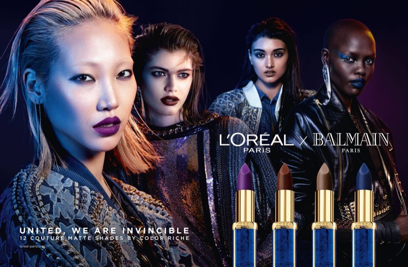 LOreal Paris X Balmain Lipstick Campaign Fashion Gone Rogue